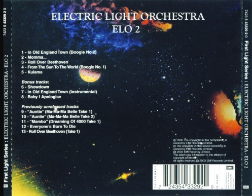 Electric Light Orchestra - ELO 2-Back