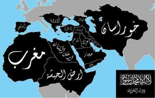 Este es el mapa del califato que desean estos canallas y que reclaman como algo suyo