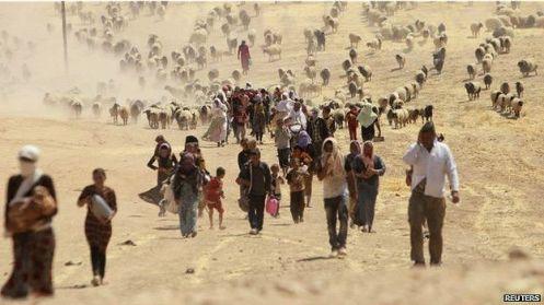 Al menos un millón de personas han sido desplazadas en Irak.