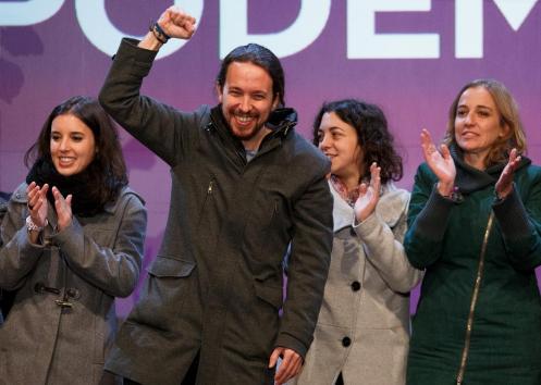 Representantes de 'Podemos': formación irresponsable y mediocre en el mundo de la política nacional.
