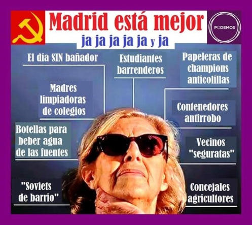 Desproporcionadas y mediocres medidas adoptadas por el Consistorio madrileño de podemitas y socialistas.
