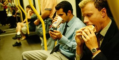 Image result for eating burger in train