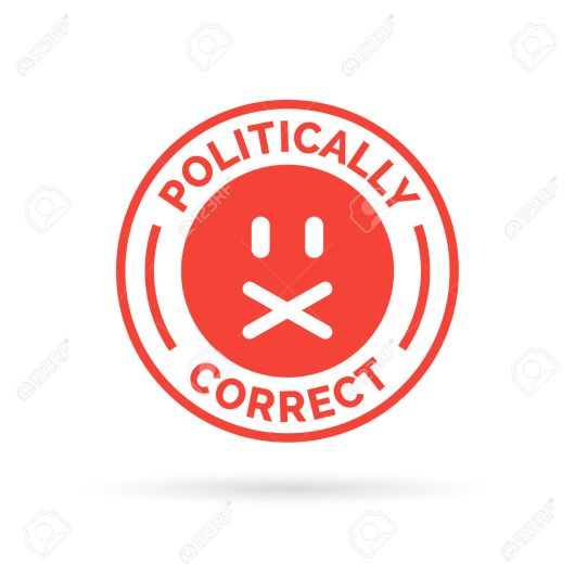 Politically Correct icon. Political correctness symbol. Censor f