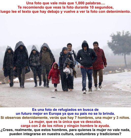 refugiados musulmanes carotas